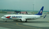 MyTravel B-737-800 taxi to its gate at PRG