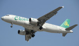 A-320 of Spring Airlines, one of the low cost airlines in China, approaches SHA