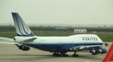 United 747-400 on the PVG ramp