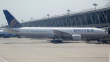 The 777 of combined United/Continental Airlines at PVG