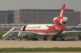 Shanghai Airlines Cargo MD-11F being worked on in PVG
