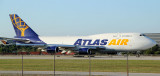 Atlas Air B-744F commencing taking off