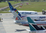 A variety of tails, winglets and fuselages in FLL