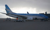 B-737-500 in AR's latest livery