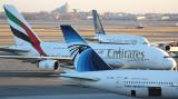 Tails of jumbos meet in JFK