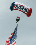 Dana Bowman, former Army Golden Knight parachutist, jumps despite losing both legs in a training accident