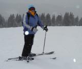 Enjoying the new snow at 12,000'
