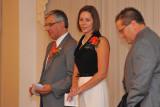 Sandy receiving her award