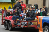 Hall of Fame inductees and families at the ONU Homecoming parade
