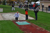 The long jump pit where Sandy set the OAC record