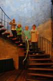 Stairway in the Hueston Woods lodge