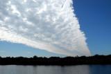 Strange line of clouds