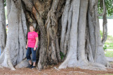 Brenda & a Strangler Fig tree at the Mound House