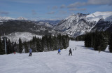 Beautiful day of skiing at Copper Mountain, Colorado