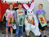 2nd & 3rd grade Fort Loramie Fire Department Egg Hunt, 2012