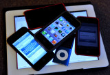 The Grand kids stopped in with their iPods, so I gathered up everything for a photo.