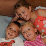 Cousins Having Fun at Bedtime