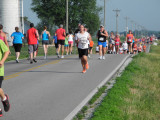 Half way point of the Five at the Fort. (5K run/walk at Fort Loramie)