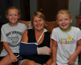 Brenda's helpers after carpal tunnel surgery