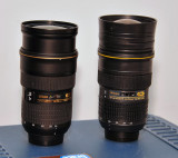 Nikkor 24-70mm (one lens and one coffee cup)