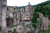 Heidelberg castle ruins (and rebuilds over many centuries)