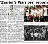 Zorriors Warriors in the Sidney Paper 1-22-2008