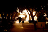 Tel Aviv Ben Gurion Blvd. sunset