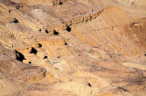 Colored sands in the Makhtesh Hakatan (the small crater), near Dead Sea valley and Arava