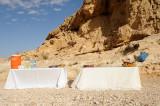 Refreshments at Parsat Nekarot trail, Makhtesh Ramon crater