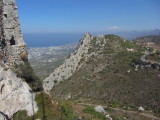 looking toward Girne from St Hilarion