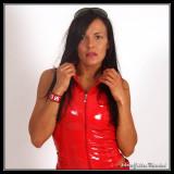 Red & Black Latex Girl