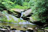 Waterfalls On Basin Creek & Its Tributary NC