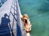 Kim decides to plunge off a pier