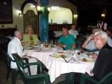 Rick#2, Kim, Bart, Rick#1 and Neville at the a la carte restaurant