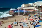 O Hotel Arribas, na Praia Grande