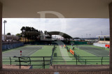 Os Courts de Tenis do Complexo Desportivo
