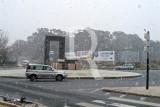 A Porta da Cidade Sob Nevão