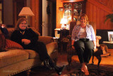 February 2011 - Ouida Griner and Karen enjoying the fire at Ouida's home on a cool Georgia night