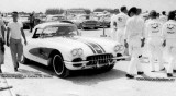 1960 - Don Gist in his Corvette at the drag races at Masters Field