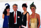 1988 - Aviation Director Dick Judy with MIA employees Marcia Fernandez (left), Maria Sanchez and Joanne Sabatino