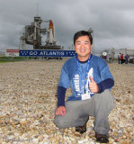 2011 - Ben Wang and the Space Shuttle Atlantis at Launch Pad 39A at Cape Canaveral