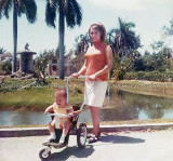 1968 - Carlos Heredia with his mom Inelda Heredia at the old Crandon Park Zoo which many of us loved