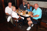 2011 - Charles and Nancy Carter, Parks and Susan Masterson and Don at the Van Dyke Cafe
