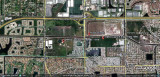 2011 - Google Earth view of the former Nike missile launch sites in NW Dade and SW Broward counties