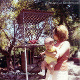 1968 - Carlos Heredia with his mom Inelda Heredia at one of the bird cages at the Crandon Park Zoo which many of us loved