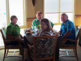 July 2011 - Karen, Breman and Ouida Griner and Don at the Innlet restaurant at the Lodge & Club on Ponte Vedra Beach