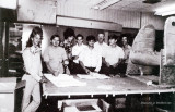 1975 - aviation students and instructor Jim Criswell (3rd from right) at Hialeah-Miami Lakes Senior High School