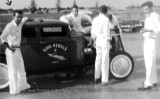 Early 1960's - Bob Rocky Meyerson and Road Rebels with their Olds-powered Ford 1932 Ford coupe club car at Masters Field