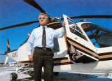 Late 1980's - Dick Judy with an Agusta A109 N30MD on top of Skyport at Miami International Airport
