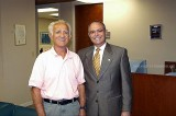 20__ - Dick Judy and current Aviation Director Jose Abreu